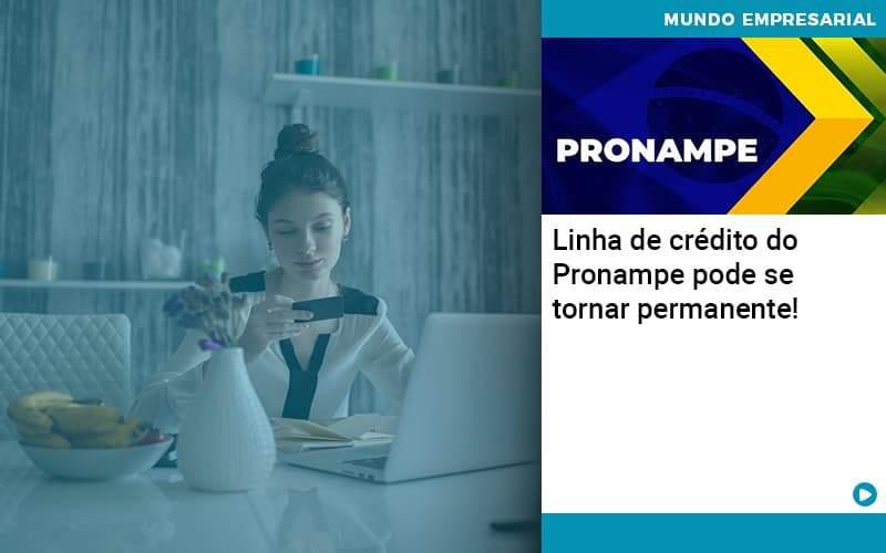 Linha De Credito Do Pronampe Pode Se Tornar Permanente Organização Contábil Lawini - Thargo Contabilidade